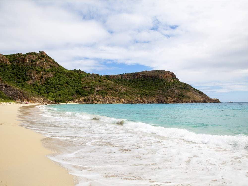 Saline Beach in the Caribbean