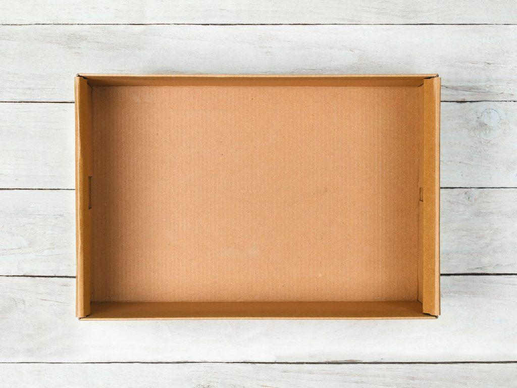 An empty cardboard box