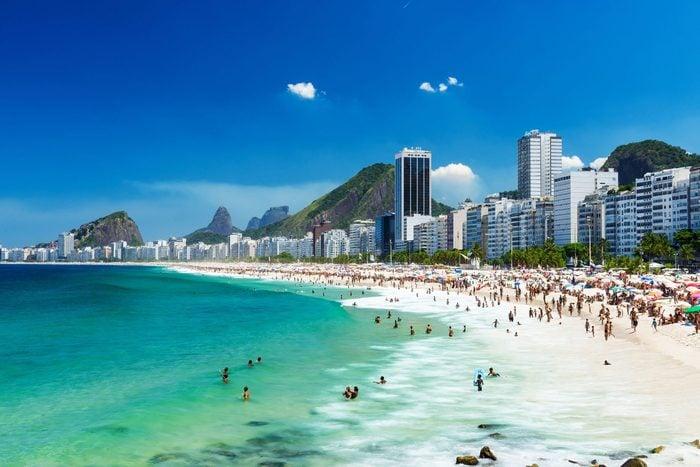 Praia de Copacabana in Rio de Janeiro
