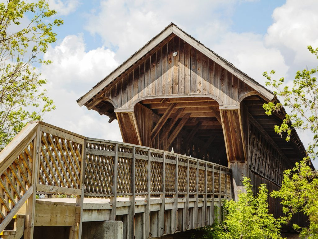 Covered bridge in Guelph, Ontario