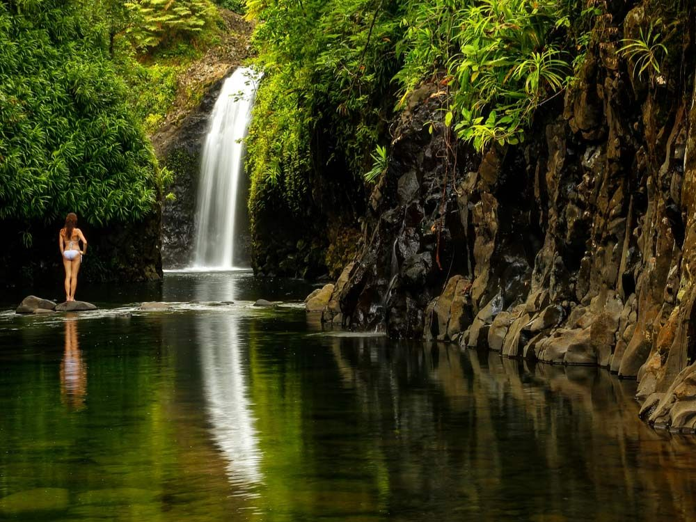 Waterfall in Fiji