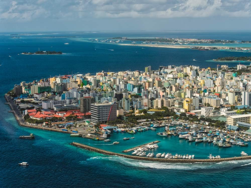 Bird's eye view of Maldives