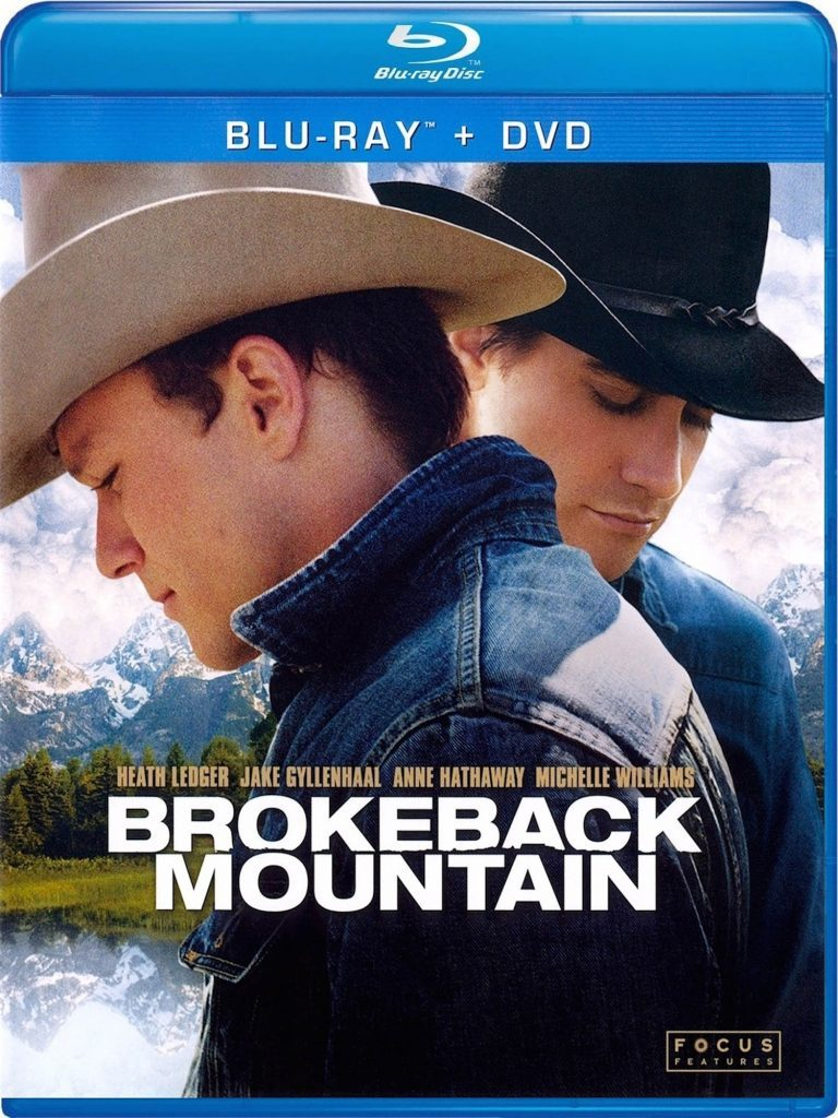 Blu-ray cover of Brokeback Mountain, one of the most famous movies filmed in Canada