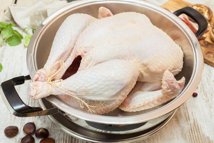 Raw turkey