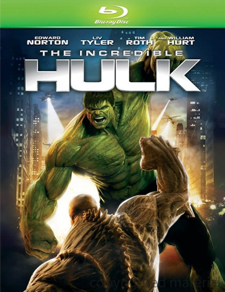 Blu-ray cover of The Incredible Hulk