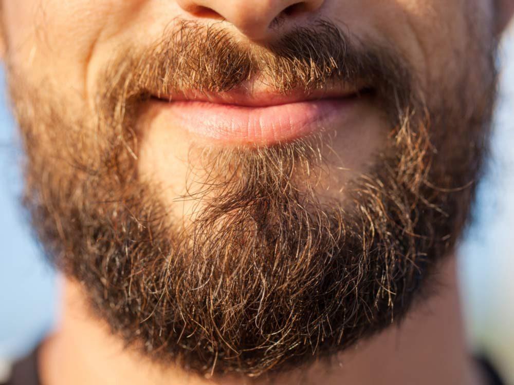 Man with ragged beard