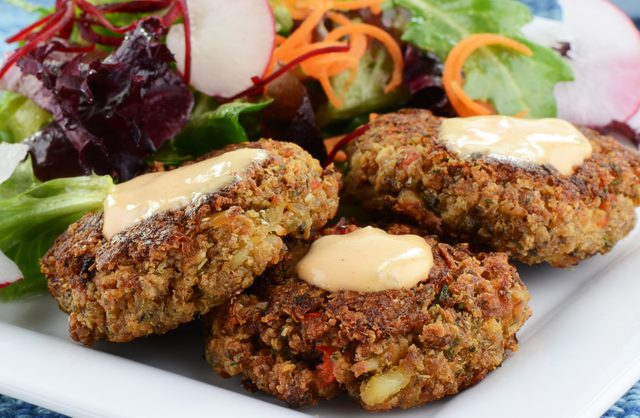 Summer crab and shrimp cakes