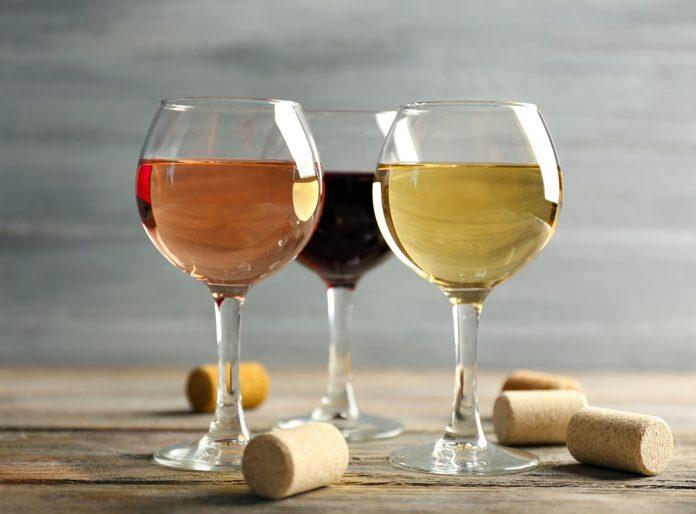 Stemmed wine glasses