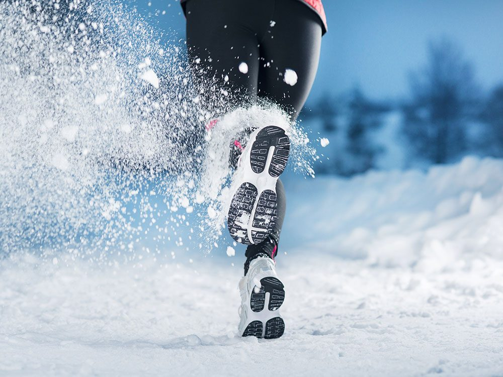 Winter running shoes