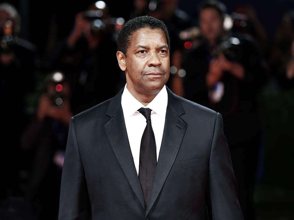 Actor Denzel Washington at a movie premiere