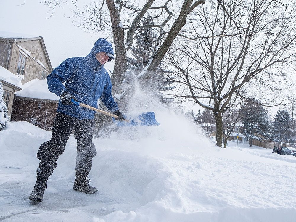 The best way to de-ice your driveway is to shovel snow regularly