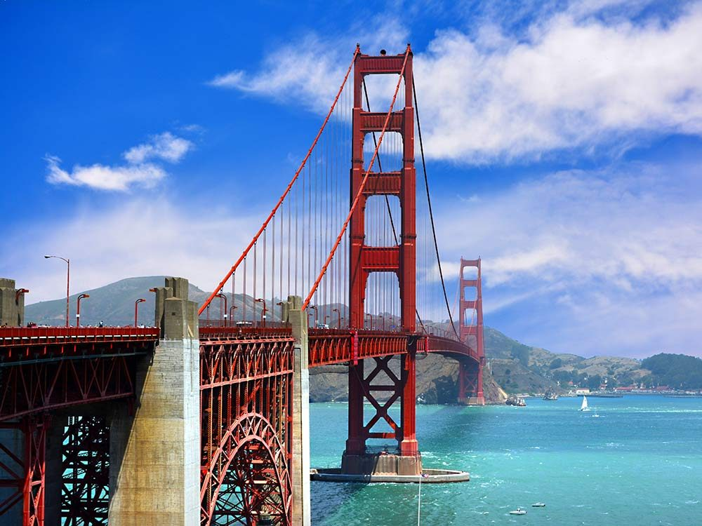 The Golden Gate Bridge in San Francisco is one of the world's most famous tourist attractions