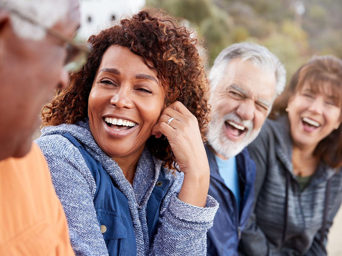 Stress management tips - Friends laughing