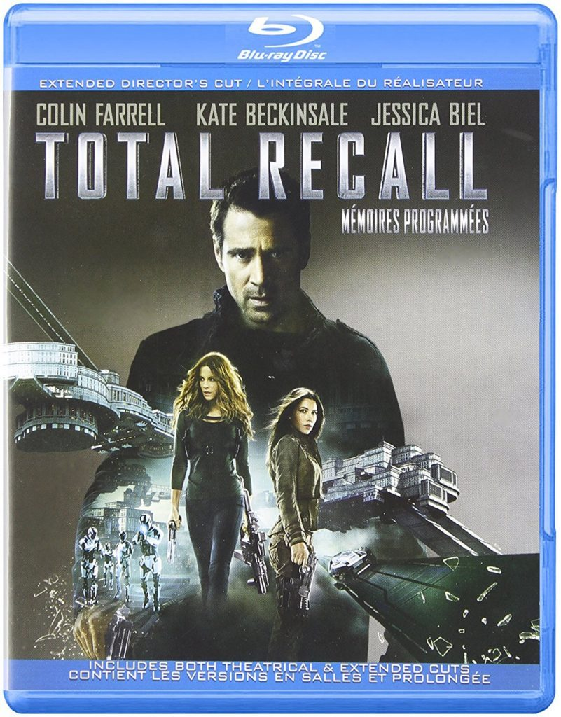 Blu ray cover of Total Recall remake