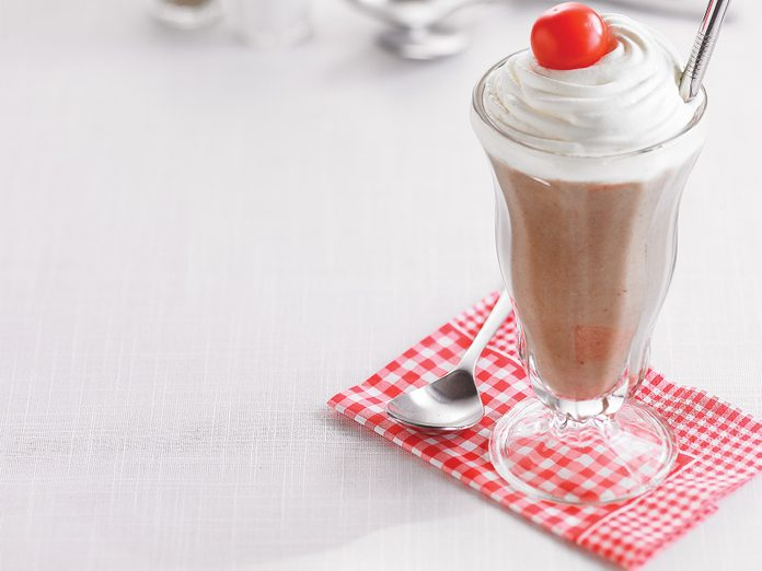 Mushroom soup milkshake
