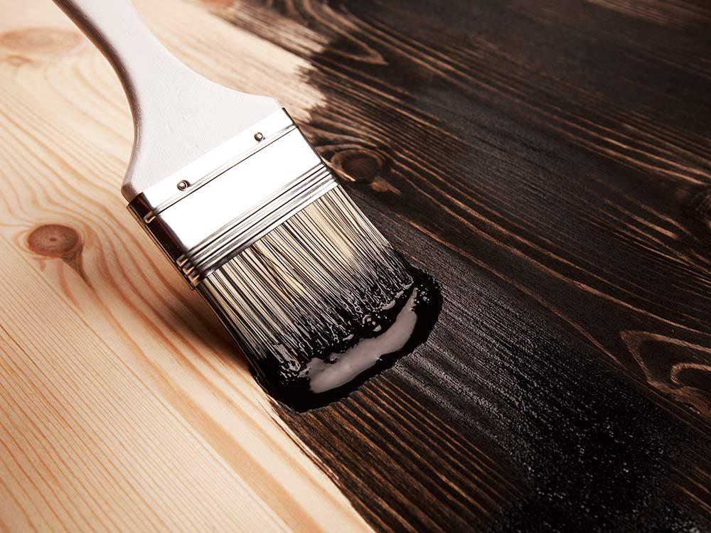 Wooden floors being painted
