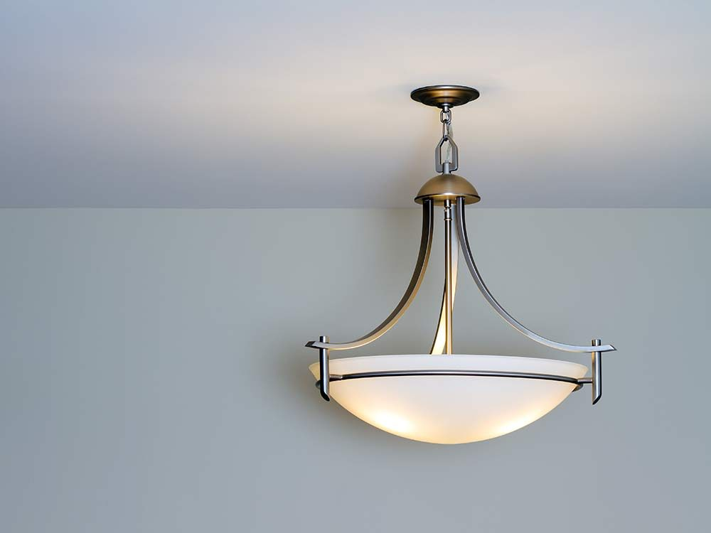 Modern ceiling lamp in home