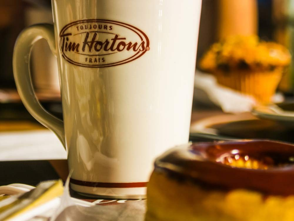 Tim Hortons coffee and donut