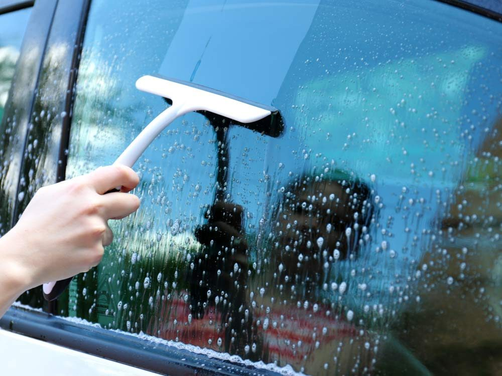 Use ammonia to clean your windows