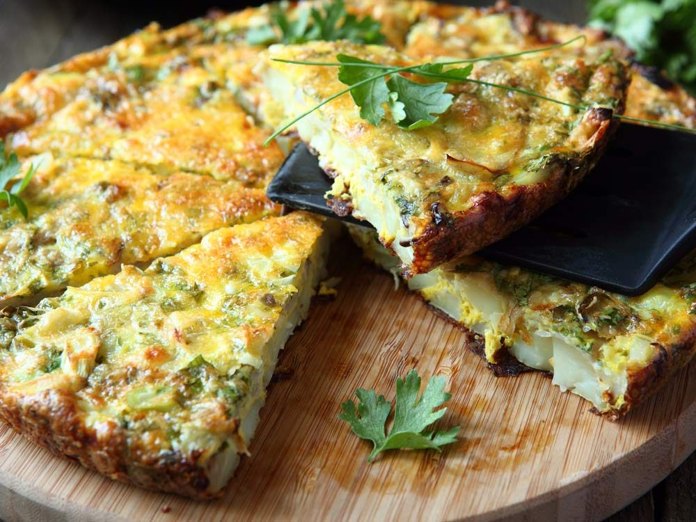 Italian Frittata with slices