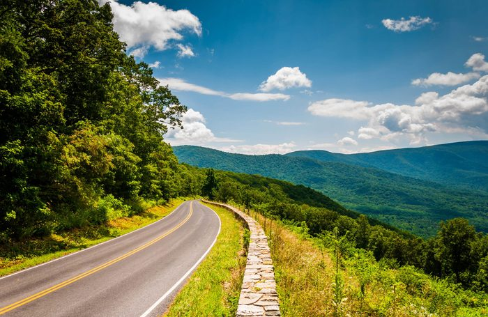 Virginia's Skyline Drive has a very special claim to fame