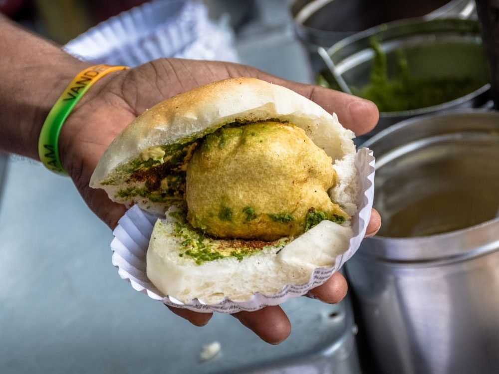 Vada Pav in Mumbai, India