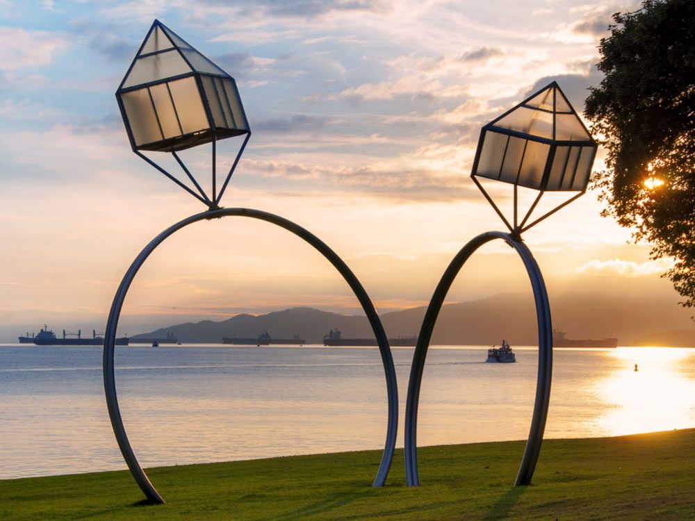 Giant engagement rings in Vancouver