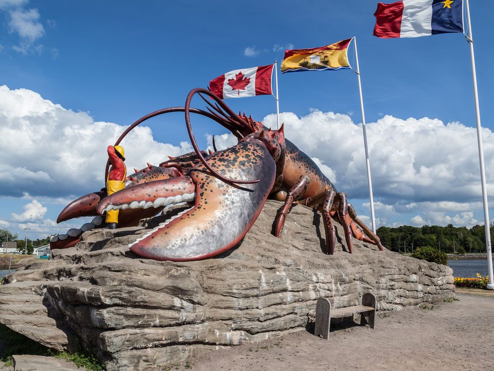 Giant lobster statue in New Brunswick