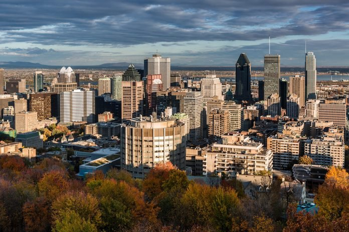 View of Montreal from Mount Royal
