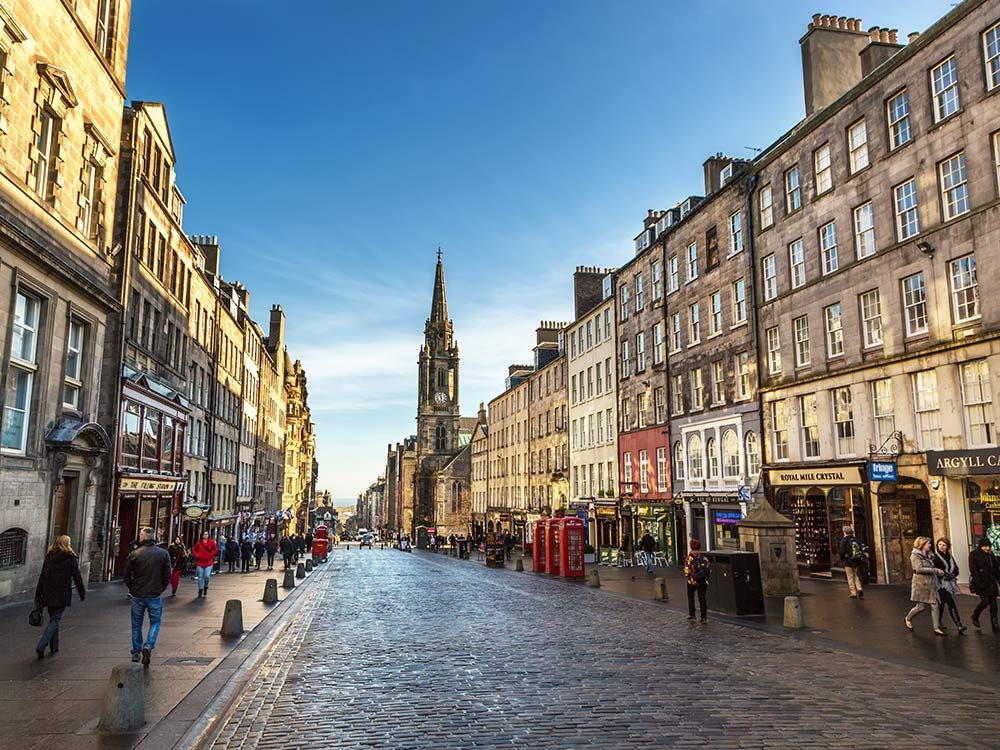 Street in Edinburgh, Scotland