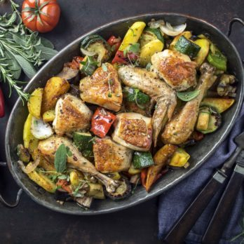 Mediterranean Chicken with Mixed Vegetables