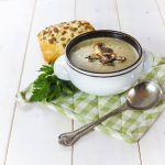Chestnut and mushroom soup