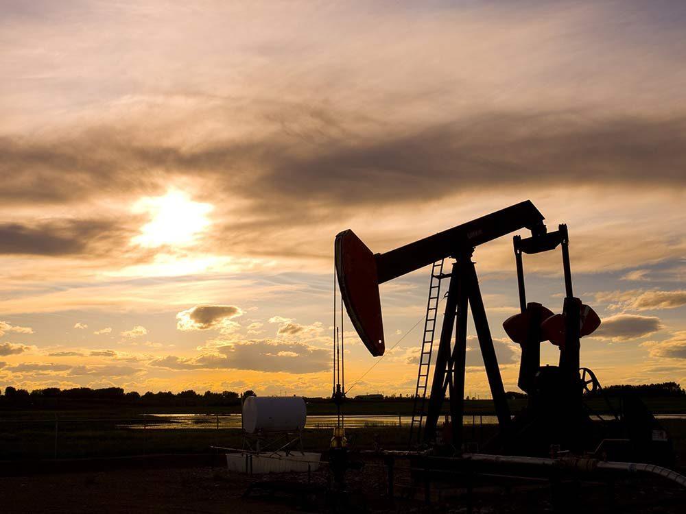 Oil derrick in Alberta, Canada