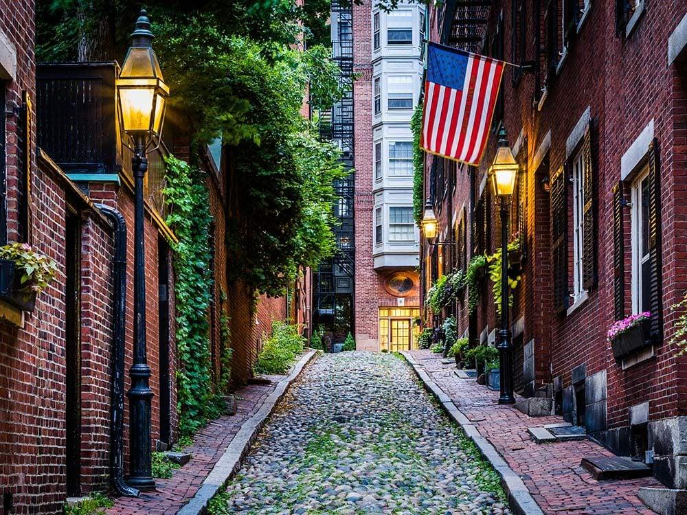 Beacon Hill neighbourhood in Boston