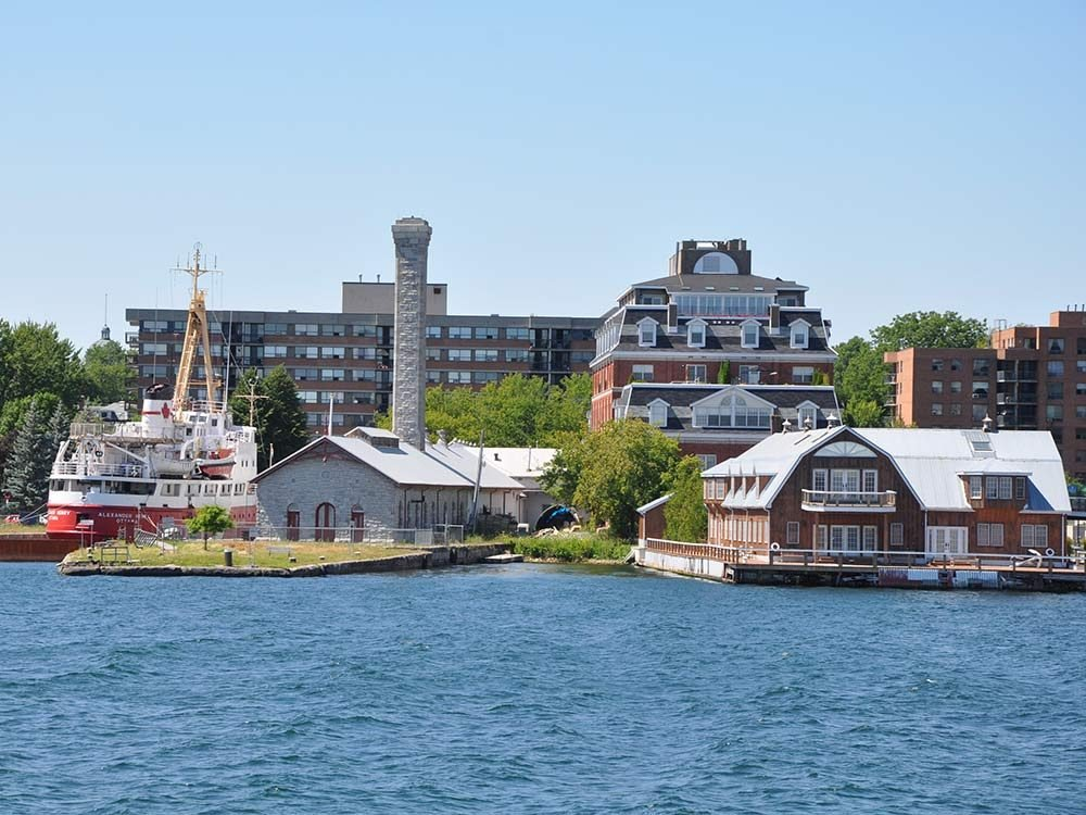 Historic waterfront in Kingston, Ontario