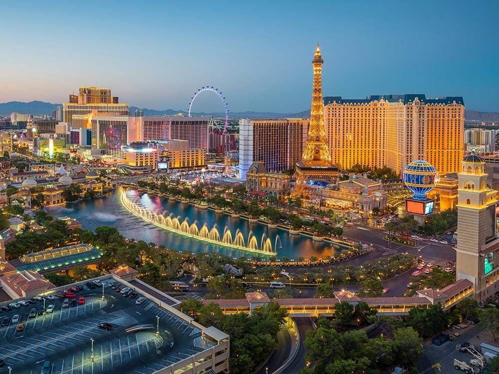 Aerial view of Las Vegas strip