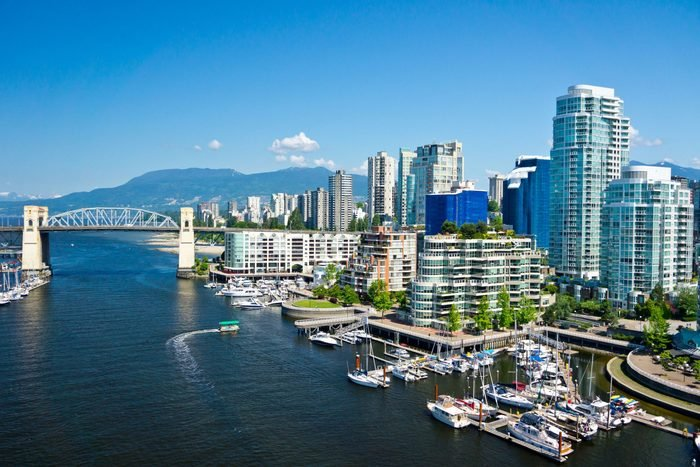 Aerial view of Vancouver, British Columbia