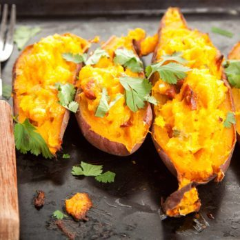 Twice-Baked Stuffed Sweet Potatoes