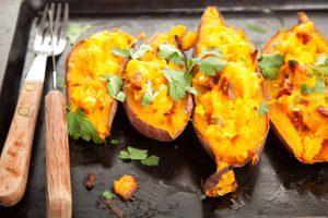Twice-Baked Stuffed Sweet Potatoes