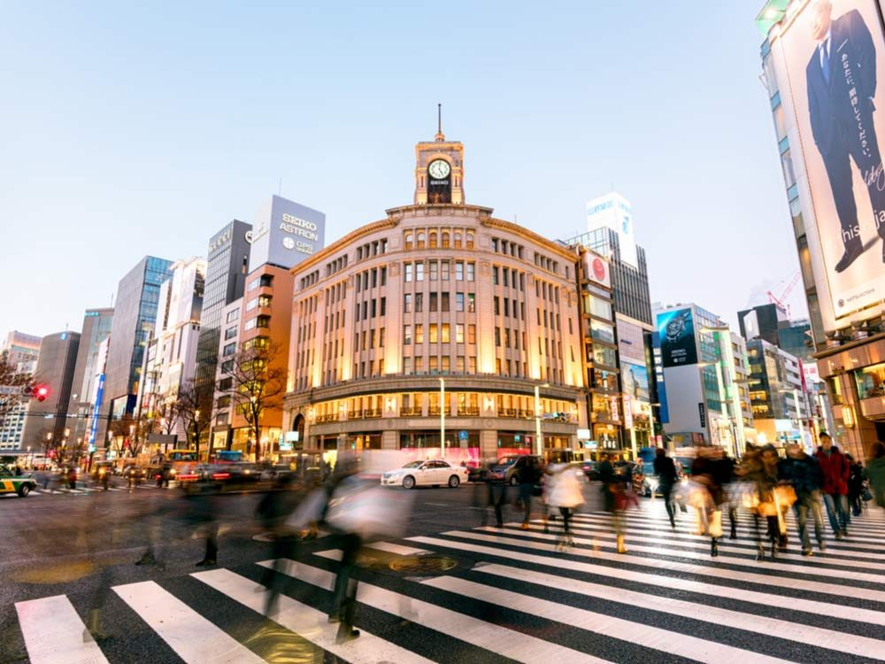 Ginza in Tokyo, Japan