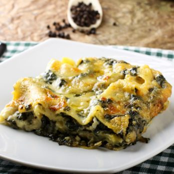 Easy One-Step Spinach Lasagna