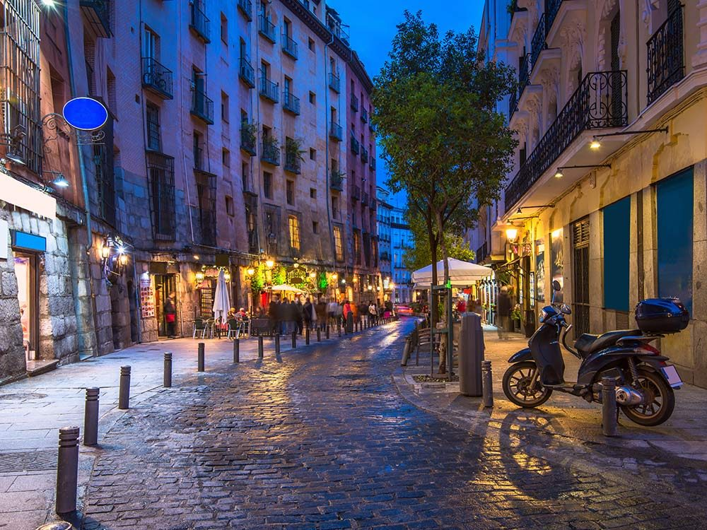 Street in Madrid, Spain