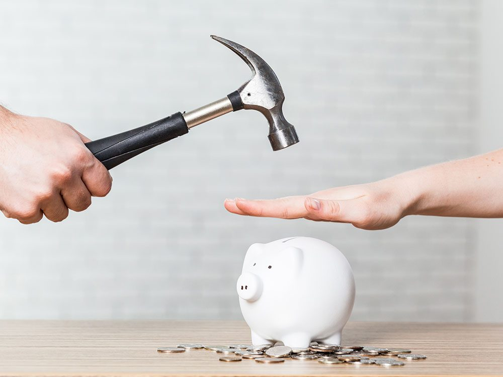 Not having savings is a common financial problem