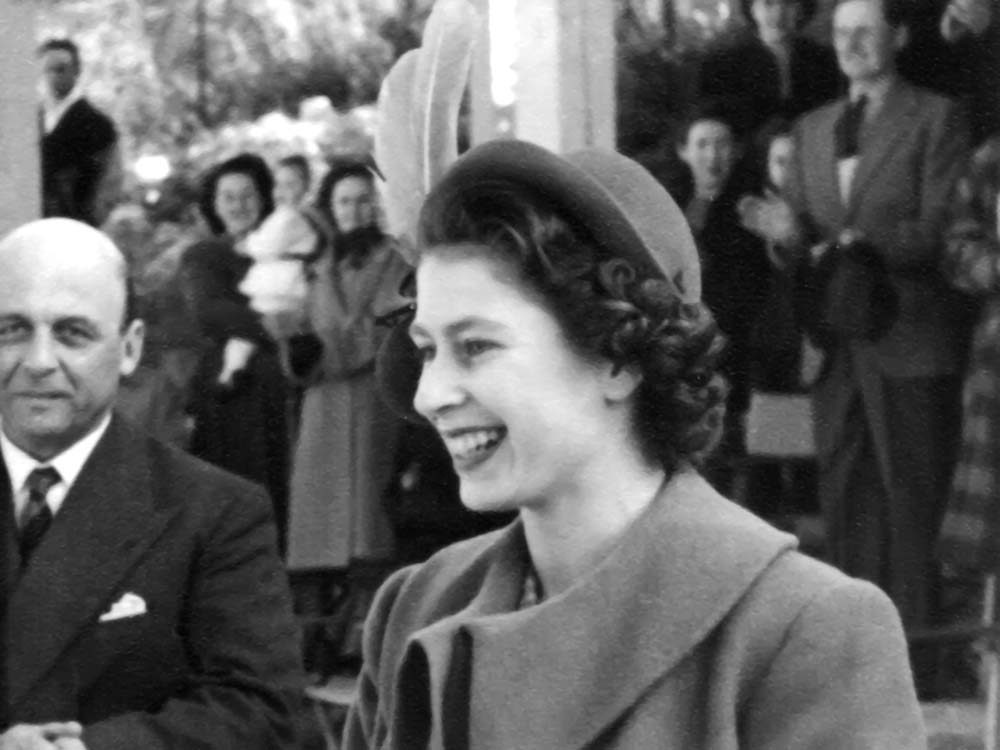 Queen Elizabeth in Malta in 1940s