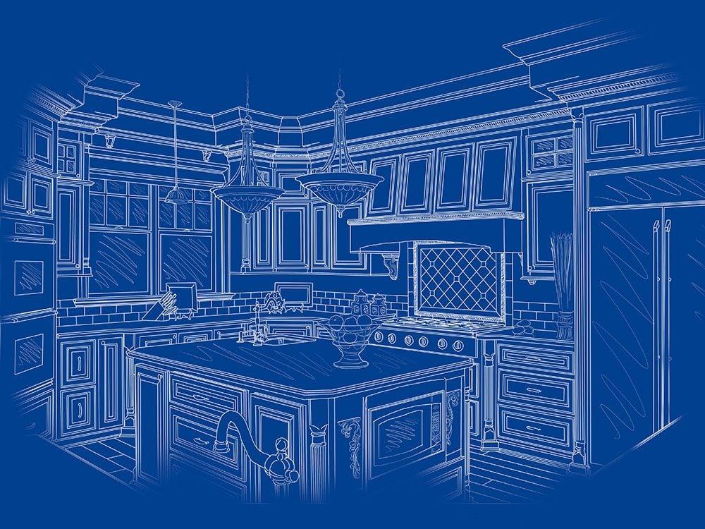 Bryan Baeumler kitchen renovation blueprint
