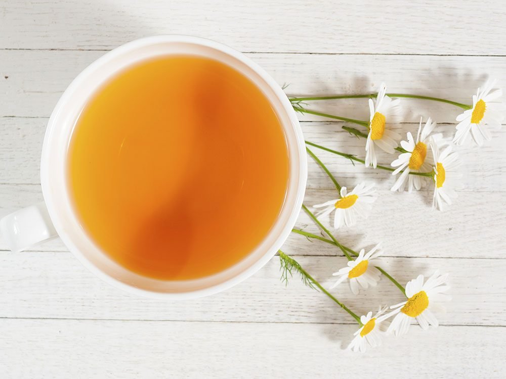 Drink chamomile tea for a deeper sleep