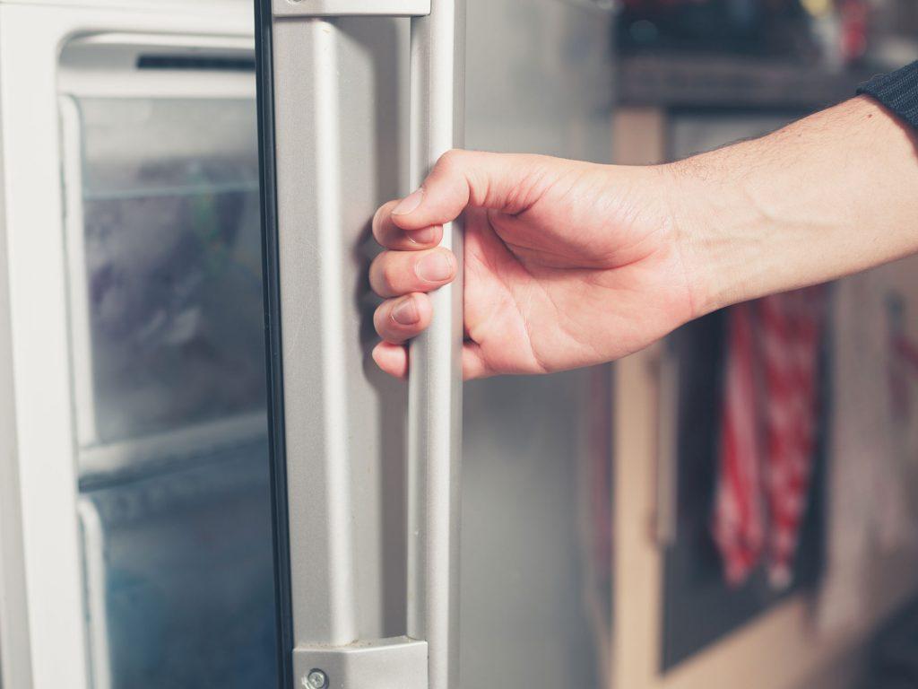 Opening a freezer door