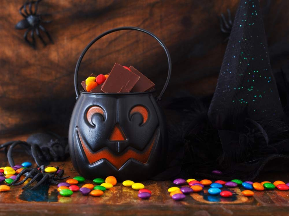 Sweet chocolate candy for Halloween