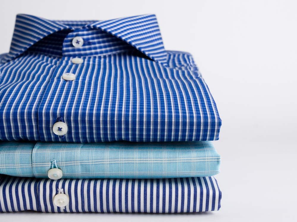 Stack of collar shirts