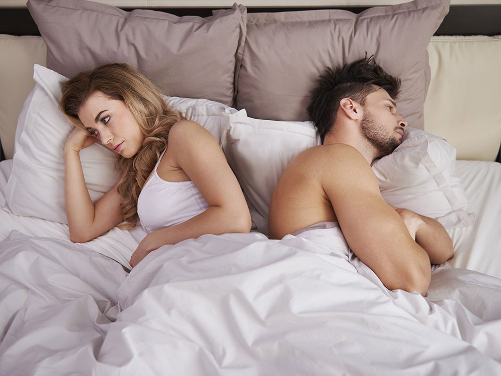 Sharing sheets can prevent a deeper sleep
